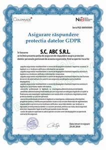 Asigurarea de Răspundere privind Protecția Datelor GDPR